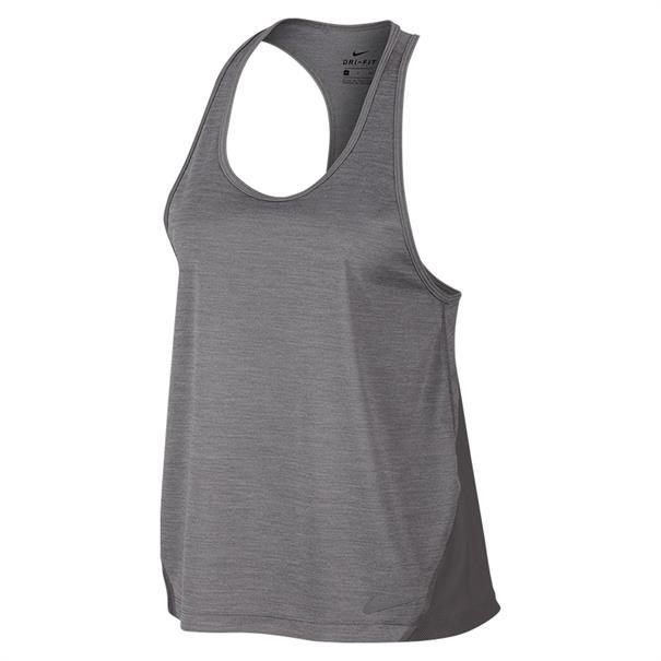 Nike Miller Tank Racer dames hardloopshirt midden grijs