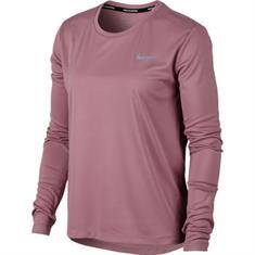 Nike Miller Top LS dames hardloopshirt lange mouwen rose