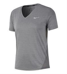 Nike Miller Top V-neck dames hardloopshirt midden grijs