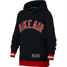 Nike Nike air fleece top jongens sportsweater zwart
