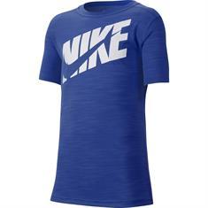 Nike NIKE BIG KIDS (BOYS) SHORT-SLEE jongens sportshirt kobalt