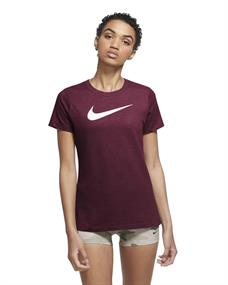 Nike NIKE DRI-FIT WOMENS TRAINING T-SH dames sportshirt bordeau