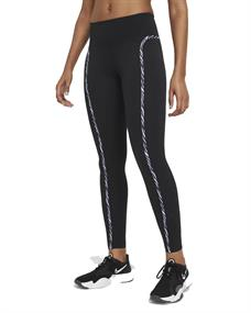 Nike NIKE ONE LUXE ICON CLASH WOMENS L dames tight zwart