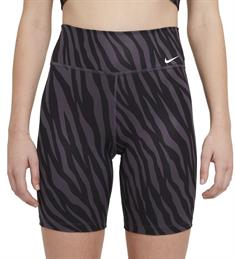 Nike NIKE ONE WOMENS 7 PRINTED SHORTS dames sportshort zwart dessin
