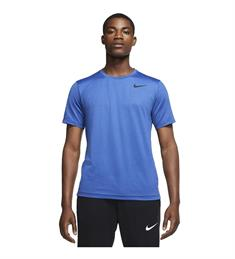 Nike NIKE PRO MENS SHORT-SLEEVE TO.MYS heren sportshirt blauw
