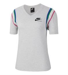 Nike NIKE SPORTSWEAR HERITAGE WOMENS T dames sportshirt midden grijs