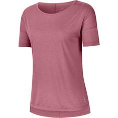 Nike NIKE YOGA WOMENS SHORT-SLEEVE TOP dames sportshirt rose