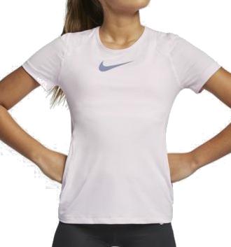 Nike NP Top SS meisjes sportshirt rose