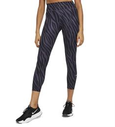Nike One dames hardloopbroek lang zwart dessin