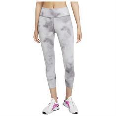 Nike One Icon Clash dames hardloopbroek lang licht grijs