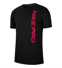 Nike PRO MENS SHORT-SLEEVE TOP heren sportshirt zwart