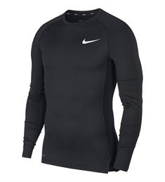 Nike PRO MENS TIGHT FIT LONG-SLEE heren compressie shirt zwart