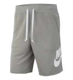 Nike Short Alumni heren sportshort midden grijs