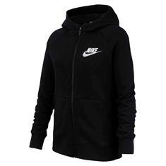 Nike Sportswear Full Zip meisjes sweater zwart