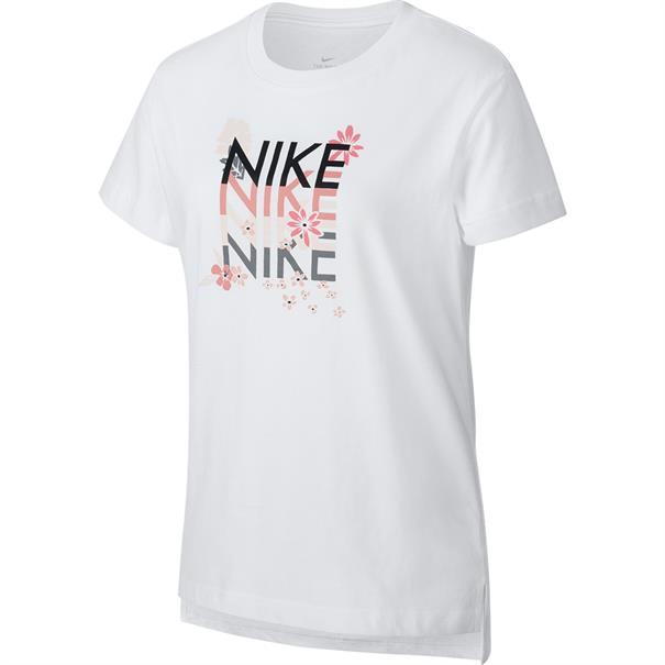 Nike Super Girl meisjes sportshirt wit