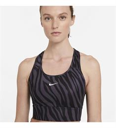Nike SWOOSH ICON CLASH WOMENS MED sport bh zwart dessin