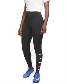 Nike Swoosh Run Tight dames hardloopbroek lang zwart