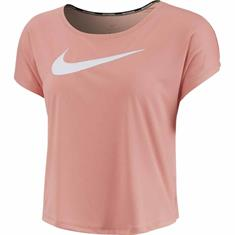 Nike Swoosh run top dames hardloopshirt rose