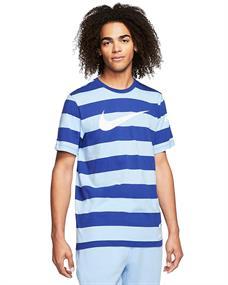 Nike Swoosh Stripe Tee heren sportshirt blauw