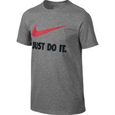 Nike Swoosh Tee jongens sportshirt antraciet