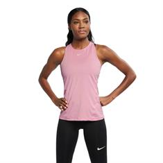 Nike Tank allover mesh dames singlet rose