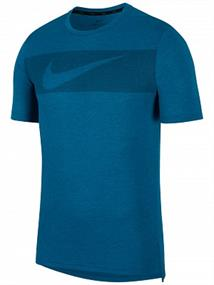 Nike Top Hyper Dry GFX heren sportshirt petrol