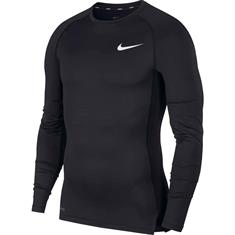 Nike Top Longsleeve heren compressie shirt zwart