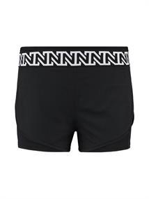 Nikkie Sportswear Logo Running Shorts dames sportshort zwart