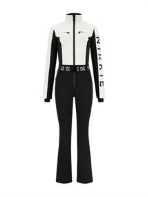 Nikkie Sportswear Two Color dames ski overall wit