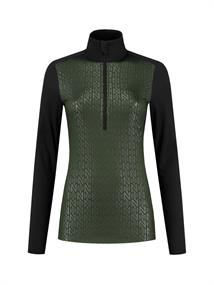 Nikkie Sportswear Zipper dames pulli donkergroen