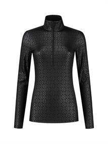 Nikkie Sportswear Zipper dames pulli zwart