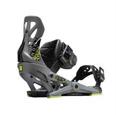 Now Brigade grey snowboard bindingen midden grijs
