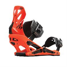 Now Select Pro Orange snowboard bindingen oranje