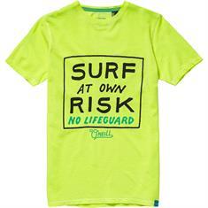 O'neill Surf Risk S/ST-Shirt jongens shirt geel