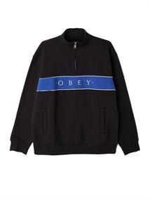 Obey Deal Mock Neck heren sweater zwart