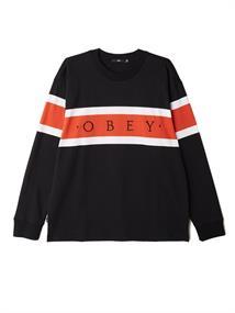 Obey Embrace Classic L/S heren sweater zwart