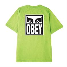 Obey Eyes 3 heren shirt lime groen