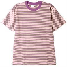 Obey Ideals Organic Stripe heren shirt geel
