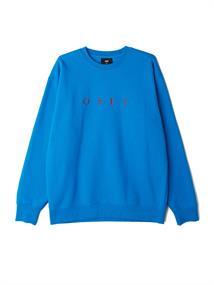 Obey Nouvelle II Crew heren sweater blauw