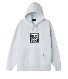 Obey Split eyes hood heren sweater midden grijs
