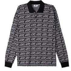Obey Wergner Jacquard Polo Tee Longsleeve heren sweater zwart