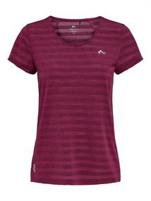 Only Amelia V-Neck Tee dames sportshirt bordeau