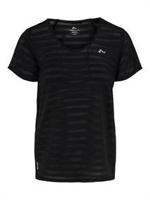 Only Amelia V-Neck Tee dames sportshirt zwart