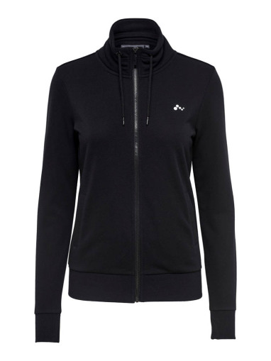 Only Elina Highneck Sweat dames sportsweater zwart