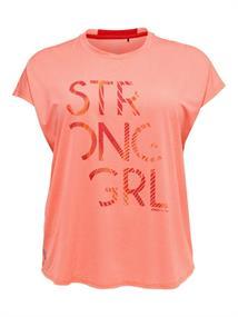 Only Emilia loose curvy dames sportshirt oranje