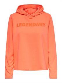 Only Fud Life Hood LS Sweat dames sportsweater oranje