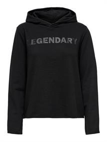 Only Fud Life Hood LS Sweat dames sportsweater zwart