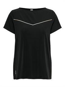 Only Jewel Boatneck dames sportshirt zwart