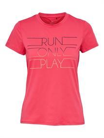 Only Kaylee run tee dames hardloopshirt pink