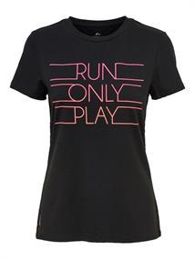 Only Kaylee run tee dames hardloopshirt zwart